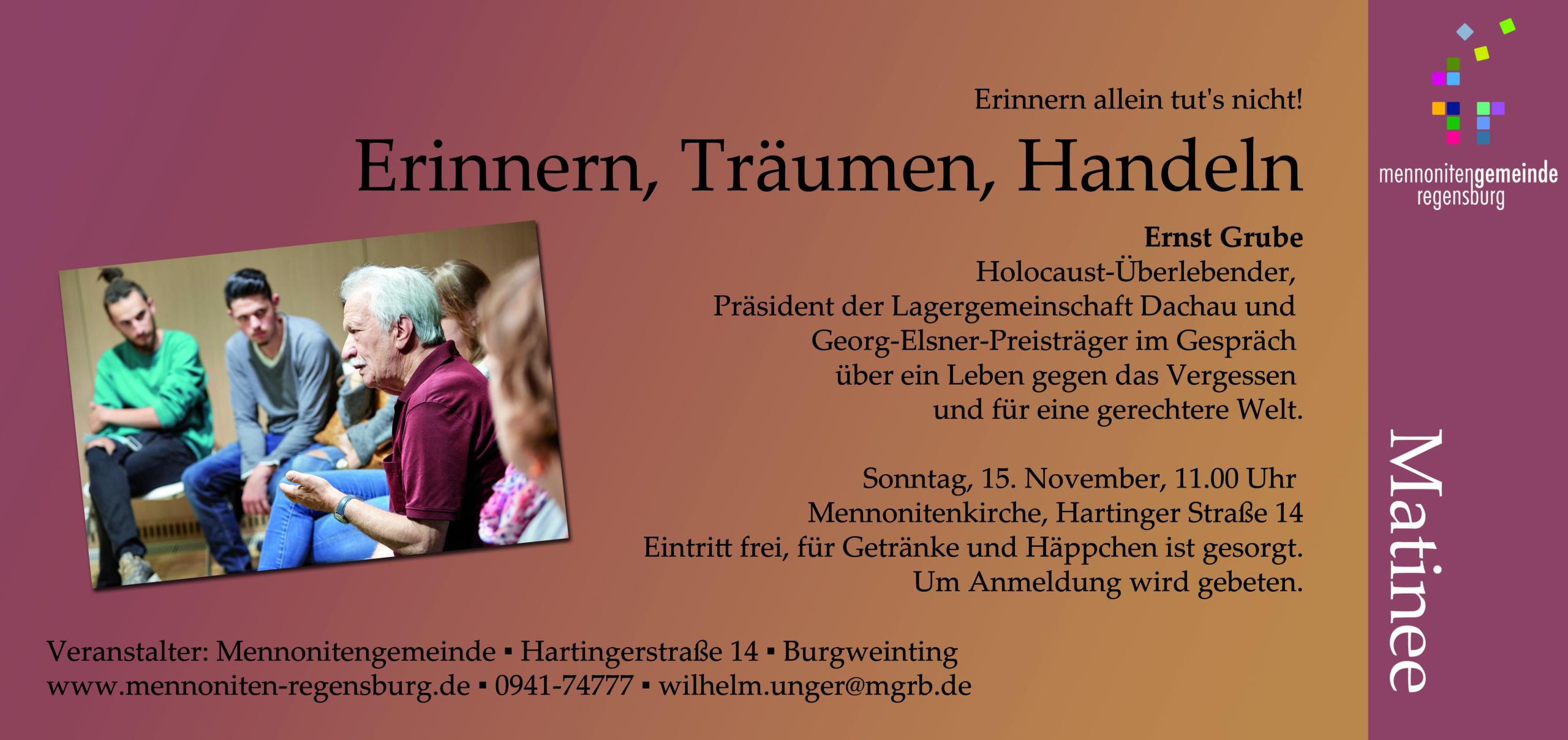 Matinee mit Ernst Grube Regensburg